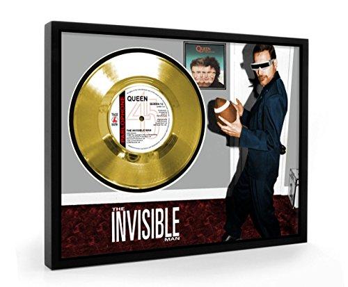 Queen The Invisible Man Framed Disco de Oro Display Vinyl (C1)