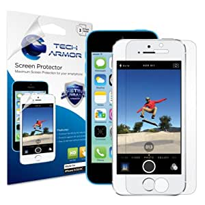 Tech Armor Premium High Definition Clear Screen Protector for iPhone 5S/iPhone 5C/iPhone 5 (Pack of 3)