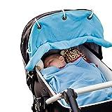 Baby Sonnensegel Sonnenschutz mit UV Schutz für Kinderwagen/ Buggy, Blau