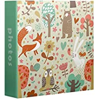 Innova Animals Álbum de fotos, diseño infantil, para 200 fotos de 10 x 15 cm, color verde