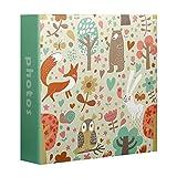 Album fotografico per bambini, motivo: animali, colore: verde, 200 foto da 10 x 15 cm