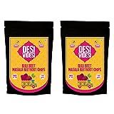 #7: Masala Beetroot Chips - DesiVidesi Bijali Beet - Pack of 2 (125 gm Each)
