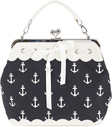 Küstenluder DALENE Sailor Anchor ANKER Kisslock Pin Up Handtasche Rockabilly