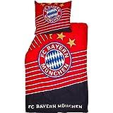 FC Bayern München Bettwäsche 140x200 + 70x80 cm (140x200 + 70x80 cm, rot/blau)