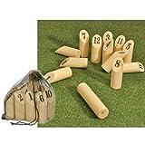 Holz Nummern Kubb Nummer Wikinger Spiel Schach Finn Wurfspiel Outdoor Spielzeug
