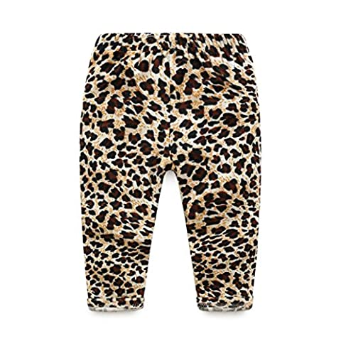 Igemy Toddlers Infants Baby Kid Girls Leopard leggings Trousers Long Pants Clothes (2-3T, Brown)