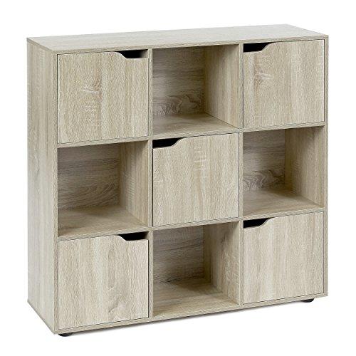 Moderne Holz Türen (ts-ideen Standregal Bücherregal Sideboard Buchregal Wohnregal Holz Natur Modern mit Türen)