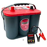 Optima Red Top RT S 4,2 - 12 V / 50 Ah - 815 A/EN inkl. Batterietester Auto KFZ Boot Caravan Versorgungsbatterie