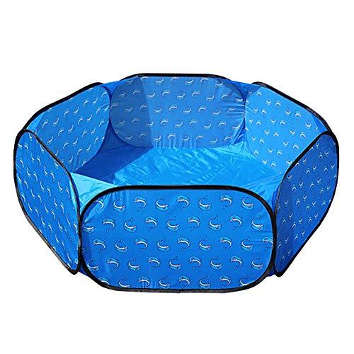 Jardin Pliant pour Bébé, Parc pour Enfant en Bas Âge avec Hexagone De Sécurité, Cloison Anti-Renversement Légère pour Pièce Bleue, 47 × 47 × 14 Pouces