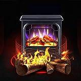 FANG Elektrischer Kamin 1800W Mit 3D-Flammeneffekt Tragbare Ofenheizungen Innenausstattung,Schwarz 35 X 22,2 X 42,2 cm