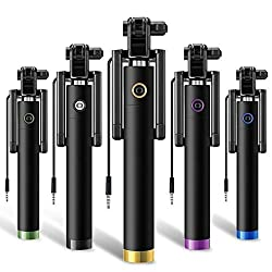 Lightweight and convenient to carry. Durable metal shaft and ; Grove to stop tilting while taking Selfie. Matt Finish with Stylish and ; Elegant Look with Non-slip silicone handle -Unique ball head allows you to adjust the angle of your Smartphone wi...