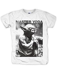 Bravado Herren T-Shirt Star Wars - Master Yoda, Gr. 56/58 (L), Weiß (weiß)