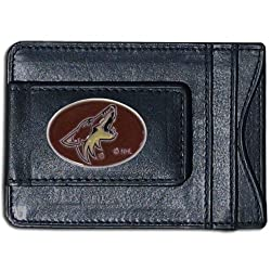 NHL Phoenix Coyotes Genuine Leather Cash and Cardholder