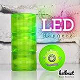 Hellmet LED Bangerz - LED Longboard Rollen - LED Longboard Wheels - NEU - Neon Grün