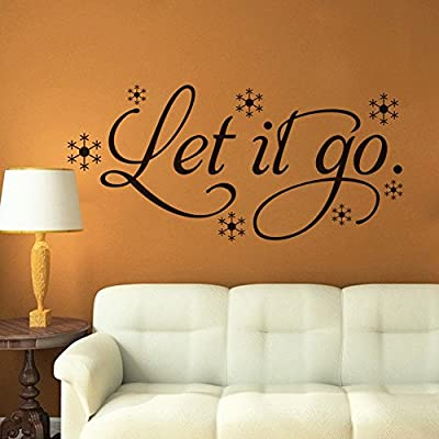 chendongdong new arrived Let It Go Wall Sticker Frozen Quote decal Removable sticker decor Vinyl