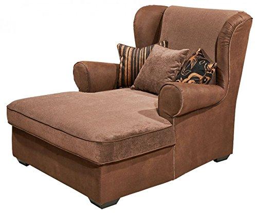 CANYON Longchair Sessel Einzelsessel Loveseat Ohrenbackensessel Braun