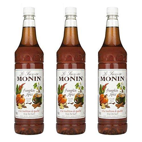Monin Sirup Pumpkin Spice, 1,0L PET, 3er Pack Monin Pumpkin Spice