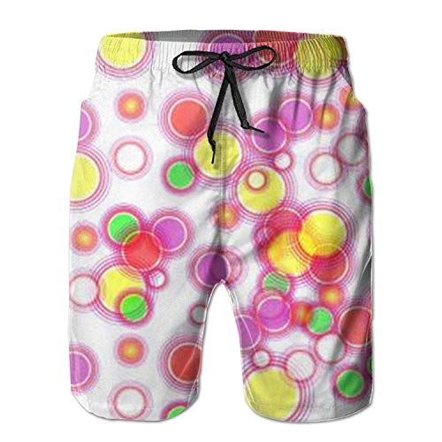 0794bc6c7fa0a Gold Pineapple Star Pattern Men's Beach Pants Swimming Trunks Dry Fit Board  Trunks with Mesh Lining