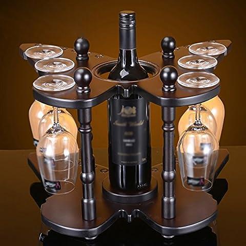 Farfalla di vino di legno struttura del vino Rack creativi Continental Wine Rack coppe di vino Capovolto Governo del vino Decoration