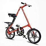 LHLCG Cuscinetti Regolabili per Freni a Disco in Alluminio da 16 Pollici per Bicicletta Pieghevole carichi 110kg,Red