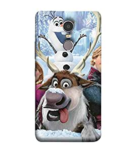 For Lenovo K6 Note Cartoon, Blue, Cartoon and Animation, Printed Designer Back Case Cover By CHAPLOOS