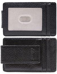designer money clip card holder 0mho  Kinzd Mens Slim Super Powerful Magnet Money Clip Wallet Leather Card Holder
