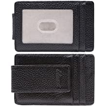 Kinzd Money Clip Front Pocket Wallet Leather RFID Blocking Wallet