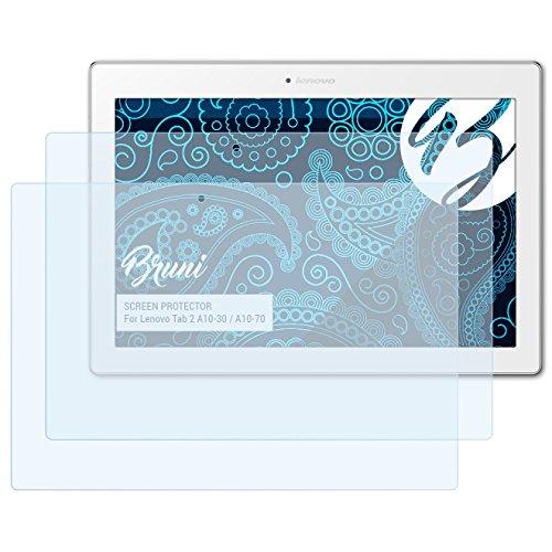 Bruni Schutzfolie kompatibel mit Lenovo Tab 2 A10-30 / A10-70 Folie, glasklare Displayschutzfolie (2X)