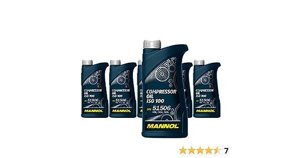 1 Litre Mannol Compressor Oil Iso 100 Din 51 506 Vbl Vcl Vdl Auto