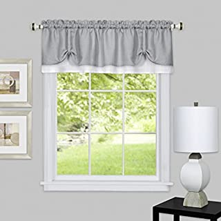 Achim Home Furnishings Halley Window in a Bag, 56 84-Inch, 6 Piece Curtain Set, Sage, Fabric, Grey & White, Valance 58