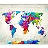 murando - Mappamondo Fotomurali 200x154 cm - Carta da parati sulla fliselina - Carta da parati in TNT - Quadri murali - Mappa 10040910-81