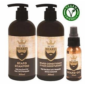 von Mein Bart Bart Shampoo / Haarspülung und Feuchtigkeits ÖL Komplett Dreierpackung