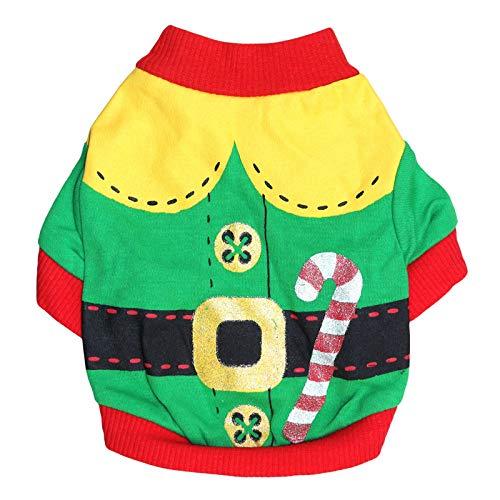 BAONUAN Haustier Kleidung Weihnachten Weihnachtsmann Verkleiden Sich Niedlich -
