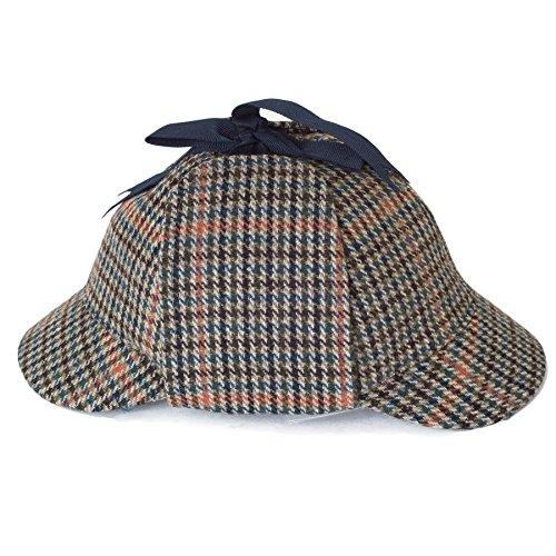 Deerstalker Gorra Sherlock Holmes Sombrero - Azul
