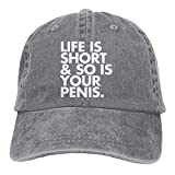 YYERINX Life is Short So is Your Penis Adjustable Cotton Hat