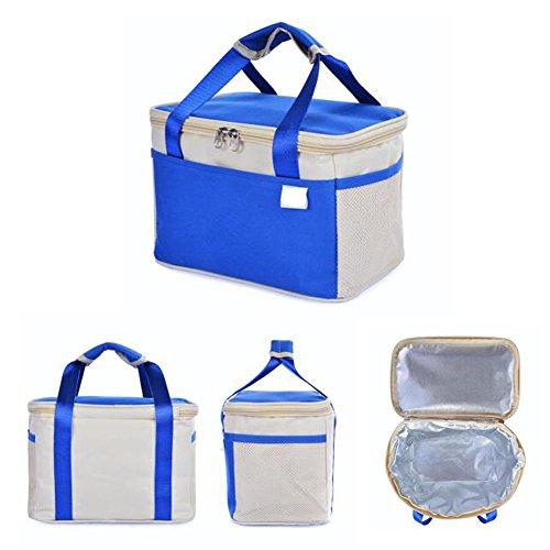 Meijunter All'aperto Portable Refrigeratore Insulated Impermeabile Thinkening Borsa per il pranzo Container Box Per Travel Camping Work Scuola Green