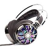 Itian Casque d'écoute PS4 Gaming Headset Over Ear 7.1 3D avec microphone et LED Light & Vibration pour Mac / PC / Laptop / Xbox 360