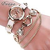 Fittingran Il braccialetto delle donne guarda le signore della radura che guarda gli orologi femminili sull'orologio di cuoio di vendita (Bianca)