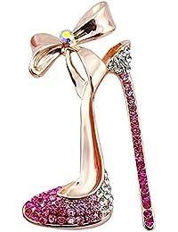 Sexy Sparkles mujeres Color del diamante, color rosa esmalte Zapatillas/zapatos con zapatos encanto