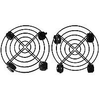 LYTIVAGEN 2Pcs Transportadores de Macetas Hierro, Soportes de Metal con 8 Ruedas Giratorias, Puede Soportar 50KG, para Poner Las Macetas En Interior, Exterior, Hogar y Jardín (Negro)