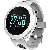 Bluetooth reloj inteligente, impermeable Fitness Tracker con monitor de ritmo cardiaco, Sleep monitor, podómetro, calorias quemadas tracker, Reloj despertador, llamada / sns / SMS recordatorio, para hombres y mujeres, compatible con Android y Ios