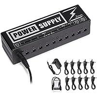 Donner DP-2 Gitarre Pedal Power Supply 10 Isolated Ausgang Pedal Netzteil für 9V / 12V / 18V Effektpedale