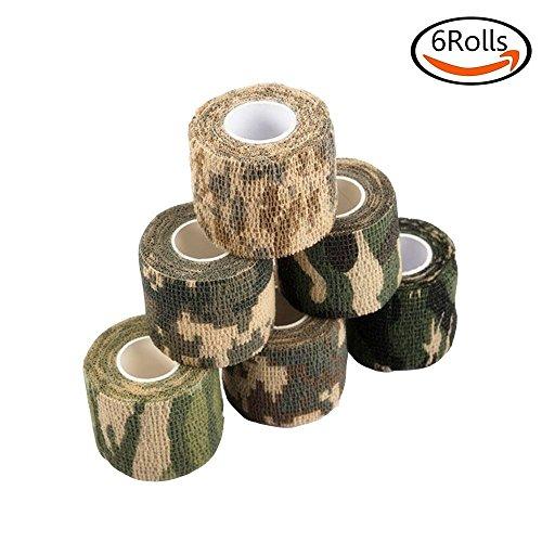 Goodlucky365 6 rotoli di nastro autoadesive di camuffamento nastro di non (Tessuto Nastro Adesivo)