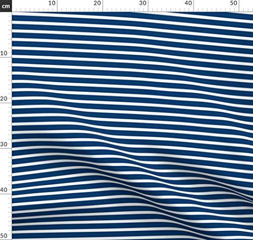 Marineblau, Marine, Maritim, Armee, Vintage, Segeln Stoffe - Individuell Bedruckt von Spoonflower - Design von Juliesfabrics Gedruckt auf Baumwoll Spandex Jersey -