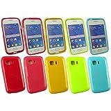 Emartbuy® Samsung Galaxy Young 2 SM-G130 Shiny Gloss Gel Hülle Schutzhülle Case Cover Packung 5 - Hot Rosa, Rot, Blau, Gelb, Grün
