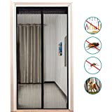 Binwo Magnet Fliegengitter Tür Insektenschutz 90 x 210 cm, Fliegenvorhang Moskitonetz Magnet Vorhang Geeignet für Balkontür Wohnzimmer, der Haustür und der Hintertür, Klebmontage ohne Bohren