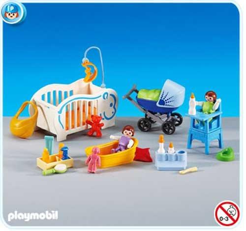 PLAYMOBIL® 6226 - Baby Erstausstattung Kinderwagen, Hochstuhl, Badewanne, Babybett und Zubehör