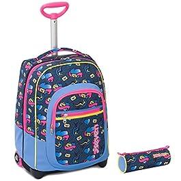 364ac1c77e Seven Trolley Bambina Portapenne – Rosa Azzurro Giallo – Spallacci a  Scomparsa! Zaino 35 LT ...