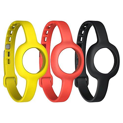 Jawbone UP Move Standard-Armband (3-er Pack) schwarz/rot/gelb für UP Move Bluetooth-Aktivitäts/Schlaftracker