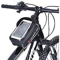 Bolsa de Bicicleta, UPGOO Bolsa Tubo Bicicleta, Bicicletas Bolsa Impermeable Con Pantalla Táctil Sensible para Bicicleta Montaña o Carretera